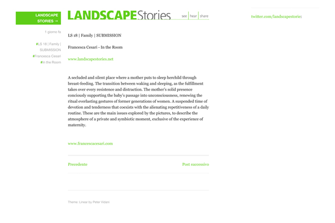 Landscape Stories (LS 18...ancesca Cesari - In...)